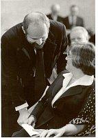 Вручение Нобелевской премии мира А.Д.Сахарову; Е.Боннер и Ф.Яноух, 10 декабря 1975 г.
