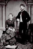 Леош Яначек с супругой (1881 г.)