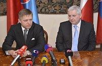 Премьер-министр Словакии Роберт Фицо и премьер-министр Чехии Иржи Руснок (Фото: ЧТК)