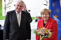 Милош Земан и Ангела Меркель (Фото: ЧТК)