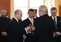 Богуслав Соботка, Андрей Бабиш, Милош Земан, Павел Белобрадек(Фото: ЧТК)