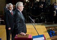 Глава Сената Милан Штех с президентом Милошом Земаном (Фото: Филип Яндоурек, Чешское радио)