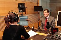 Норман Эйсен посетил Чешское радио