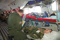 Военные самолеты доставили украинских пациентов в Прагу (Фото: Павел Ланг, архив Армии ЧР)