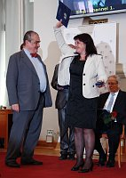 Министр Карел Шварценбегр и Наталья Тумарец