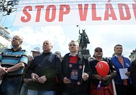 Демонстрация профсоюзов, апрель 2012 г.