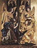 Крещение Иисуса Христа, часть алтаря (ретабл) городского костела Девы Марии в Кракове, 60-ые годы 15-го века, Kraków, Kościół parafialny p. w. św. Floriana