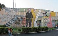 Стена памяти на месте, где Грабал жил (Фото: Милош Турек, Чешское радио - Радио Прага)