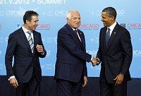 Андерс Фог Расмуссен, Вацлав Клаус и Барак Обама (Фото: ЧТК)
