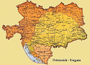 Карта Австро-Венгрии