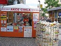 «Акция кирпич» в пражском районе Андел