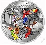 Золотая медаль с мотивом комикса Čtyřlístеk (Фото: Чешский монетный двор)