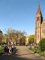 Площадь Мира в пражском районе Винограды (Фото: Кристина Макова, Чешское радио - Радио Прага)