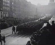 Нацистский военный парад на Вацлавской площади, 19 марта 1939 г. (Фото: Чешское Телевидение)