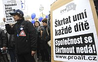 Демонстрация против правительства и реформ (Фото: ЧТК)