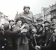 Генерал Паттон в городе Плзень
