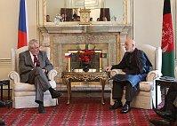 Президент ЧР Милош Земан с главой Афганистана Хамидом Карзайем (Фото: ЧТК)