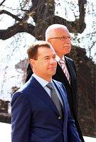 Глава России Дмитрий Медведев и президент ЧР Вацлав Клаус (Фото: Штепанка Будкова)