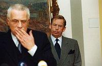 Вацлав Клаус и Вацлав Гавел (Фото: Архив Чешского радио)