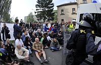 Демонстрация в Варнсдорфе (Фото: ЧТК)