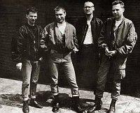 Группа Orlík - слева: Якуб Малечек, Даниел Ланда, Давид Матасек и Мартин Лимбурски