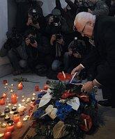 Президент Вацлав Клаус на Национальном проспекте (Фото: ЧТК)